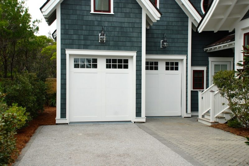 Windowed garaged doors allow for more natural light